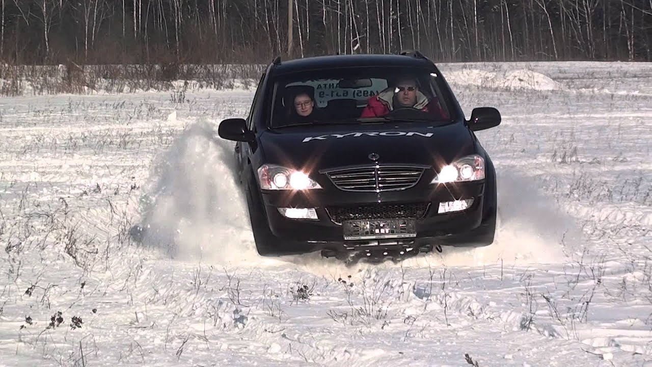 Саньенг рекстон по снегу видео 8