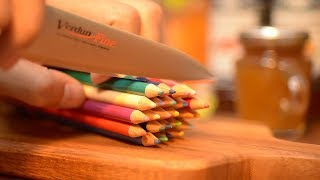 Eat colored pencils! Stopmotion cooking.Miniature.ASMR.