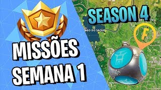 LETTERS F-O-R-T-N-I-T-E? HOW TO PERFORM ALL MISSIONS OF THE WEEK 1-FORTNITE ‹ VINOK4 › SEASON 4
