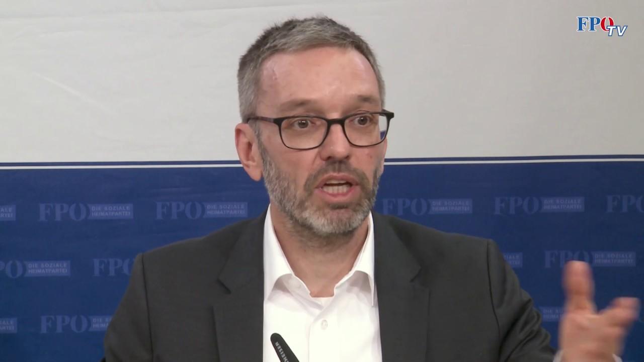 """Herbert Kickl: """"Die schwarz-grüne Regierung steht für Belastungen!"""""""