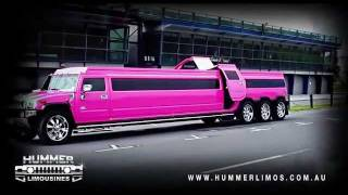 PINK HUMMER H2 TRIPLE AXLE LIMO BY QUALITY COACHWORKS IN ONTARIO CALIFORNIA LIMO LIMOUSINE