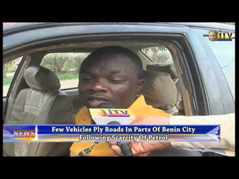 Few Vehicles Ply Roads In Parts Of Benin City Following Scarcity Of Petrol
