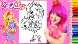 Coloring Sunny Day Hairstylist Coloring Book Page Prismacolor Colored Pencils | KiMMi THE CLOWN