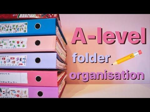 A-Level Folder Tour / School Organisation Tips 📚📝