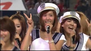 [HD] 090724 SNSD - Etude (Manchester United VS FC Seoul) @ Seoul Stadium