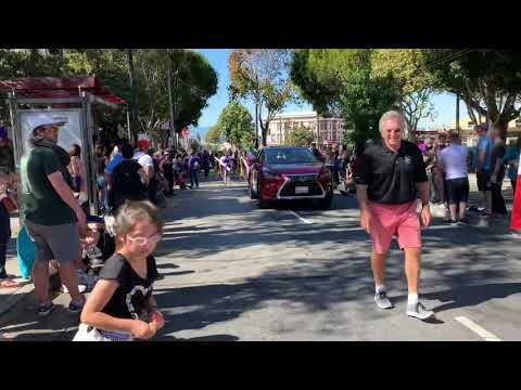 Archbishop Riordan high school  columbus parade 2018