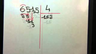La division décimale par un entier