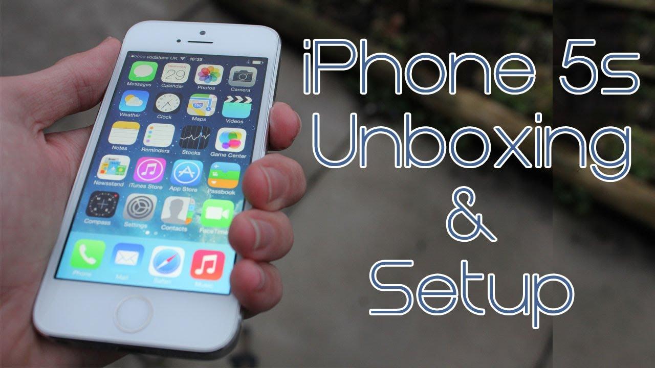 Apple iPhone 5s Unboxing & Setup - YouTube