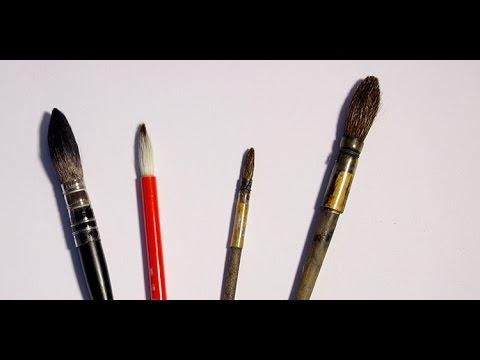 conseil comment choisir ses pinceaux pour l 39 aquarelle par l o dessin youtube. Black Bedroom Furniture Sets. Home Design Ideas