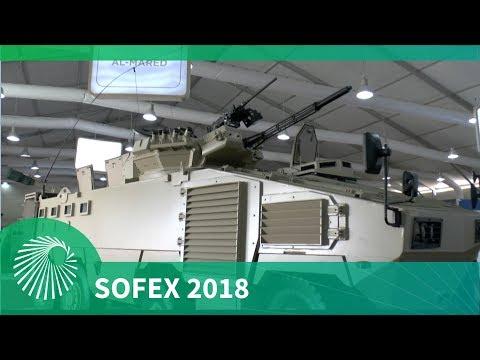 SOFEX 2018: KADDB Al Mared 8x8 turret variant