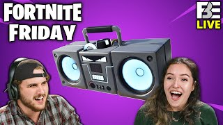 DESTROYING Forts with Boomboxes! | Fortnite Friday w/ Tori and Eric