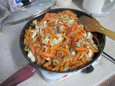 Курица с луком и морковью Вы не представляете как это вкусно!