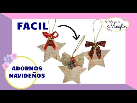 3 ideas Estrellas navideñas para el arbol  DIY  PAEPL Y CARTON