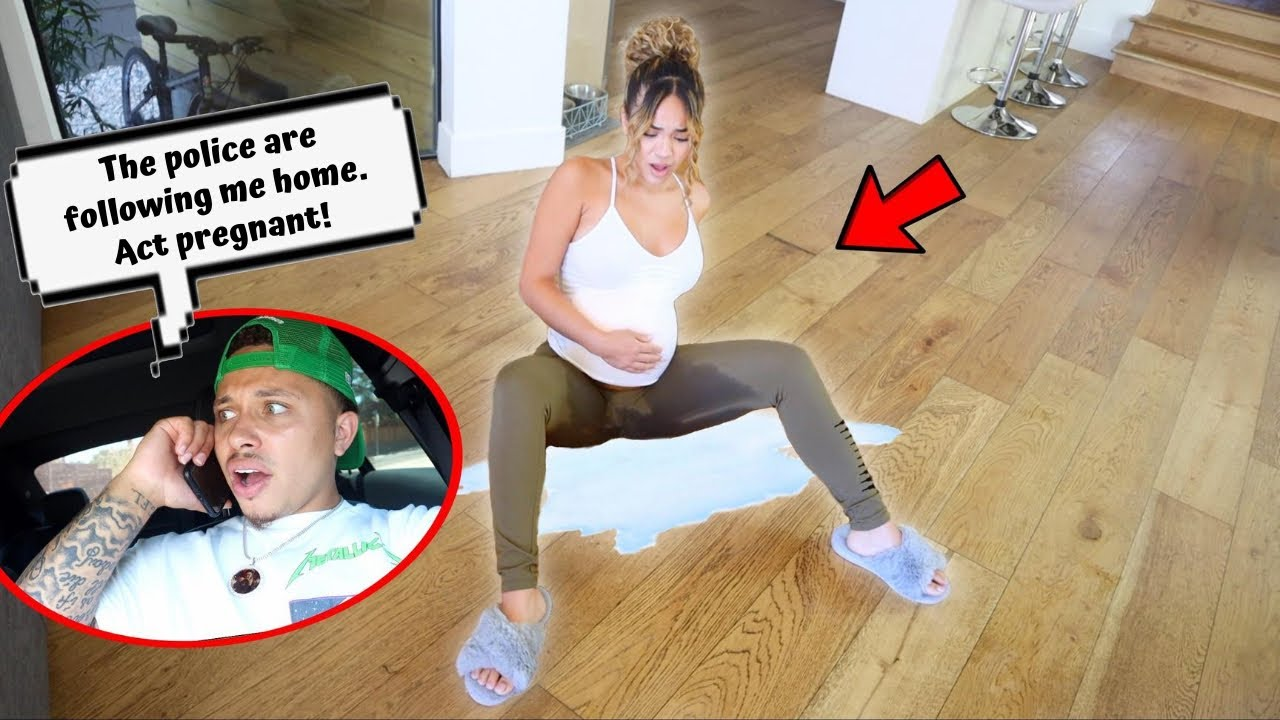POLICE ARE FOLLOWING ME HOME PRANK ON GIRLFRIEND! ** SHE'S PREGNANT! **