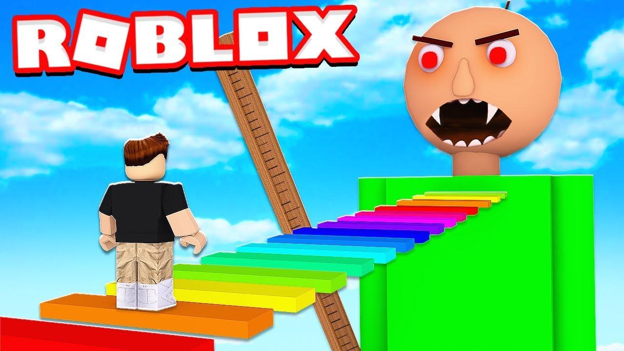 Escape Baldi Basics Obby In Roblox Youtube