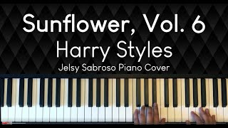 Harry Styles - Sunflower, Vol. 6   Piano Cover with Lyrics