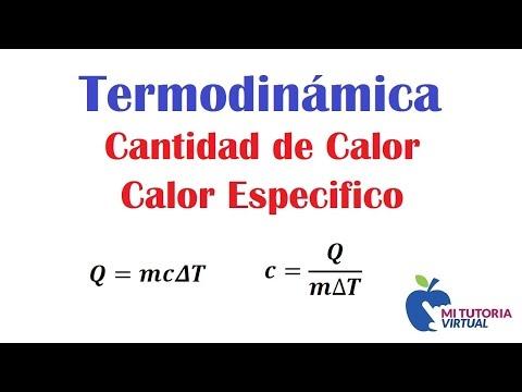 Cantidad De Calor Calor Especifico Total Heat Specific Heat