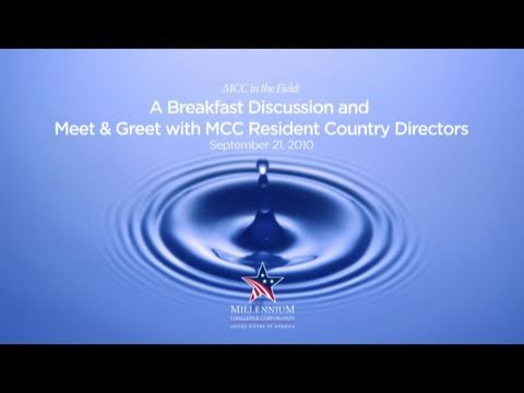 MCC in the Field: A Breakfast Discussion and Meet & Greet with MCC Resident Country Directors