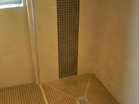Jnv tiling wet room cleckheaton youtube for How to put in a wet room