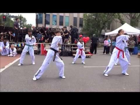 Han's Taekwondo Demo Team At Richmond Hill Heritage Festival 2013