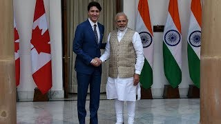 Canadian PM meets Modi at the end of his 8-day trip