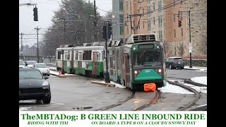 TheMBTADog - Riding with Tim: MBTA B Green Line Inbound via Commonwealth Avenue