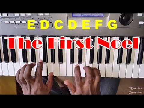 How To Play The First Noel - Easy Piano Tutorial - Christmas Song
