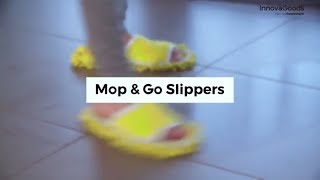 InnovaGoods Home Houseware Mop & Go Slippers