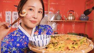 포차 요리 ASMR|새우, 어묵 먹는 소리|직접 만든 …
