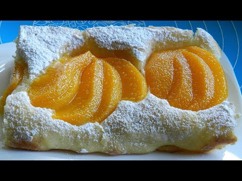 Peach Cake - Yeast Cake Recipe | Really Soft !