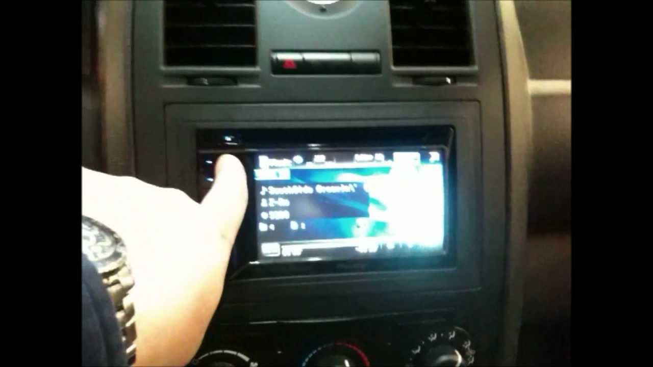CHRYSLER 300 CONVERSION PIONEER AVHP3300BT $44000 DOUBLE DIN RADIO HEAD UNIT TOUCH SCEEN CAR