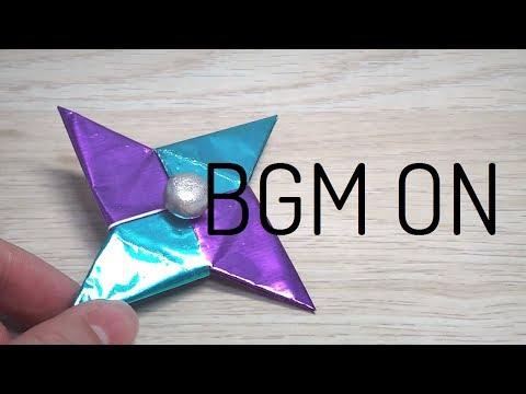 DIY-[BGM ON] 종이로 피젯스피너 만들기/베어링없이 피젯스피너 만들기/노 베어링