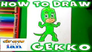 How to Draw Gekko from PJ Masks