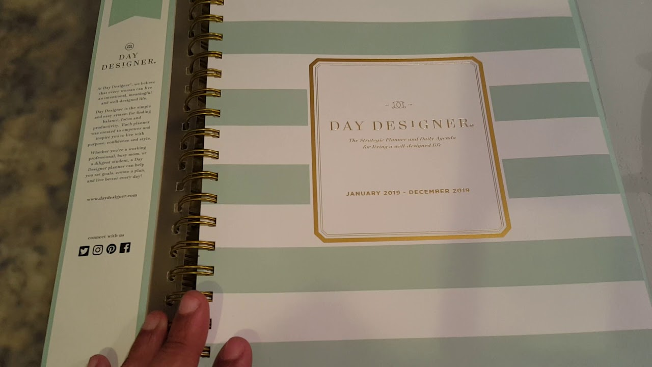graphic about Day Designer for Target named No Working day Designer planner at Aim? Watch out this mint striped planner at Business Depot!
