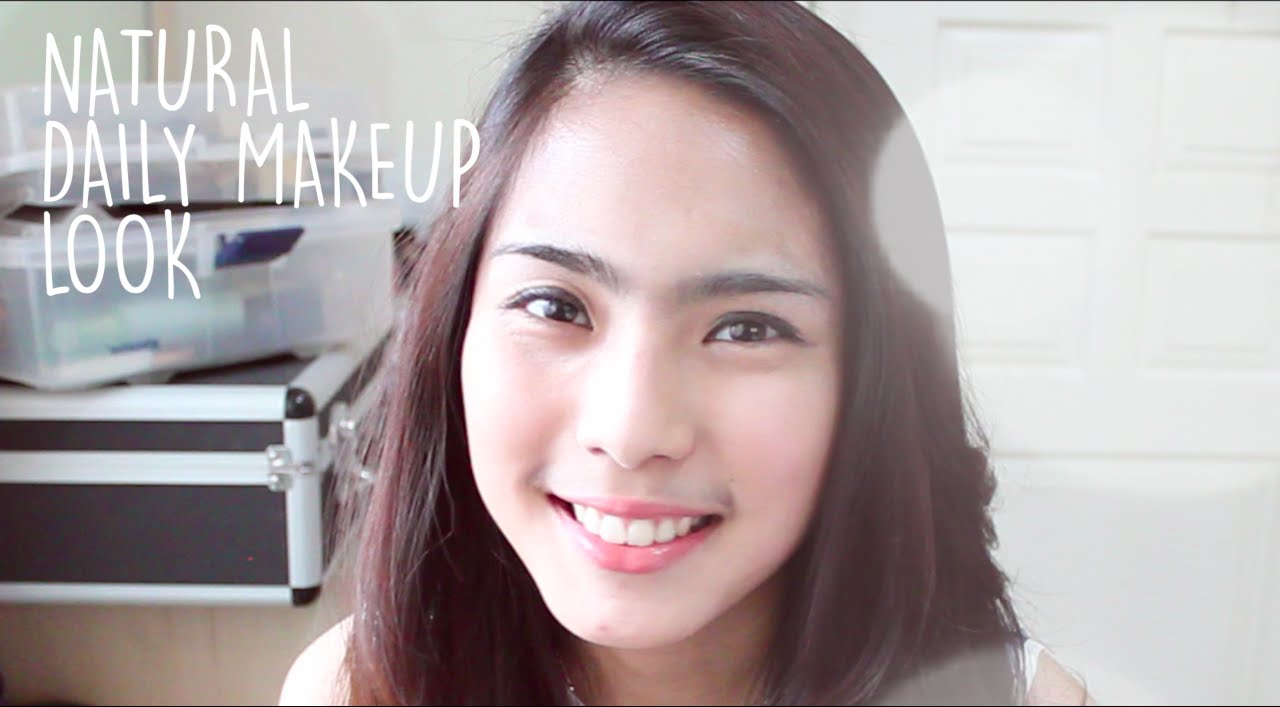 Natural Daily Makeup Without Eyeshadow Work Or School Tutorial For Beginner Youtube