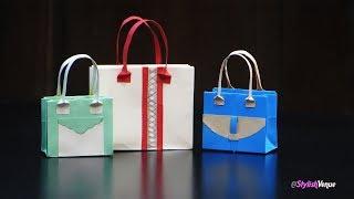 How to Make Paper Bags & Purses   Handmade DIY - Do It Yourself   紙袋   纸袋   종이 봉투