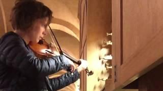 Emmanuelle Dauvin - Biber violin sonata -  OVNI Baroque - training in Lessay - orgue de choeur