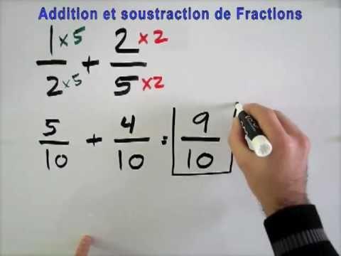 Addition et soustraction de Fractions - YouTube