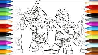 How to draw Lego Ninjago Movie - Kai and Lloyd - coloring pages