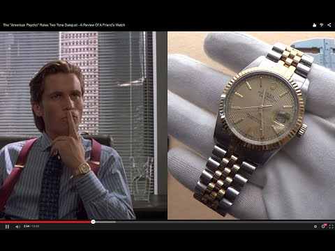 """The """"American Psycho"""" Rolex Two Tone 16013 Datejust - A Review Of A Friend's Watch"""