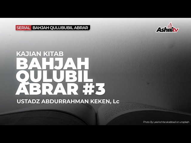 🔴 *[LIVE]  Ketentraman Hati Orang-orang Shaleh  - Ustadz Abdurrahman Keken, Lc. حفظه الله*