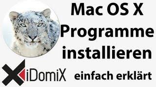 Mac OS X Programme installieren, deinstallieren, DMG+USB Teil 3 Umsteiger / Einsteiger / Switcher