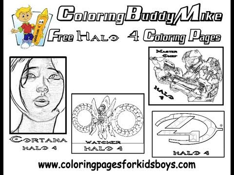 ColoringBuddyMike Halo 4 Coloring Pages To Print YouTube