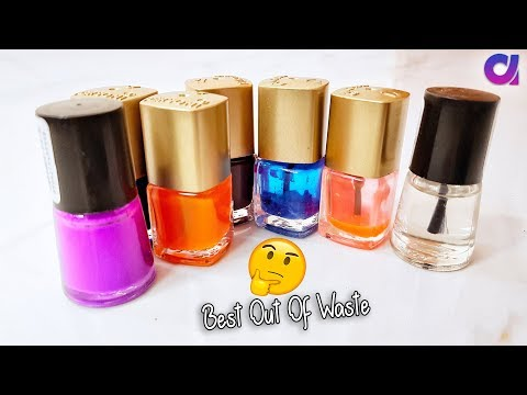 best out of waste nail polish bottle crafts idea | Artkala 388