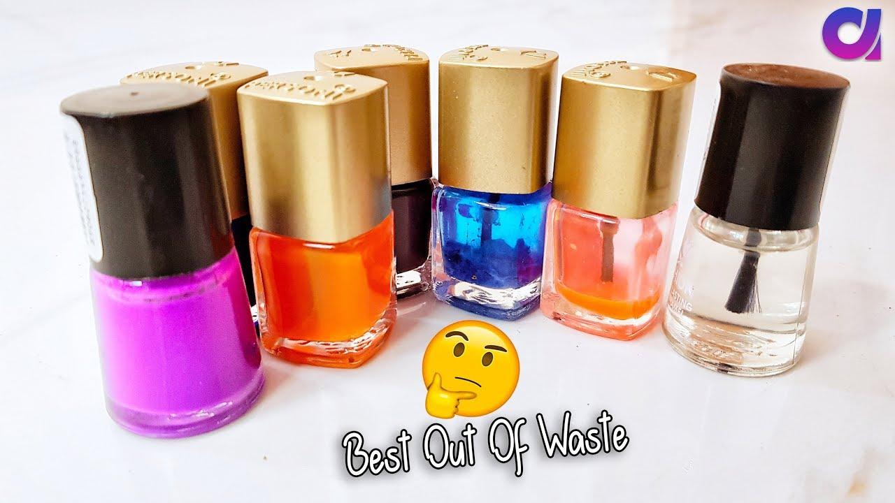 best out of waste nail polish bottle crafts idea | Artkala 388 - YouTube