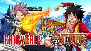 LUFFY EL PIRATA y NATSU EL MANGO/ONE PIECE VS FAIRY TAIL