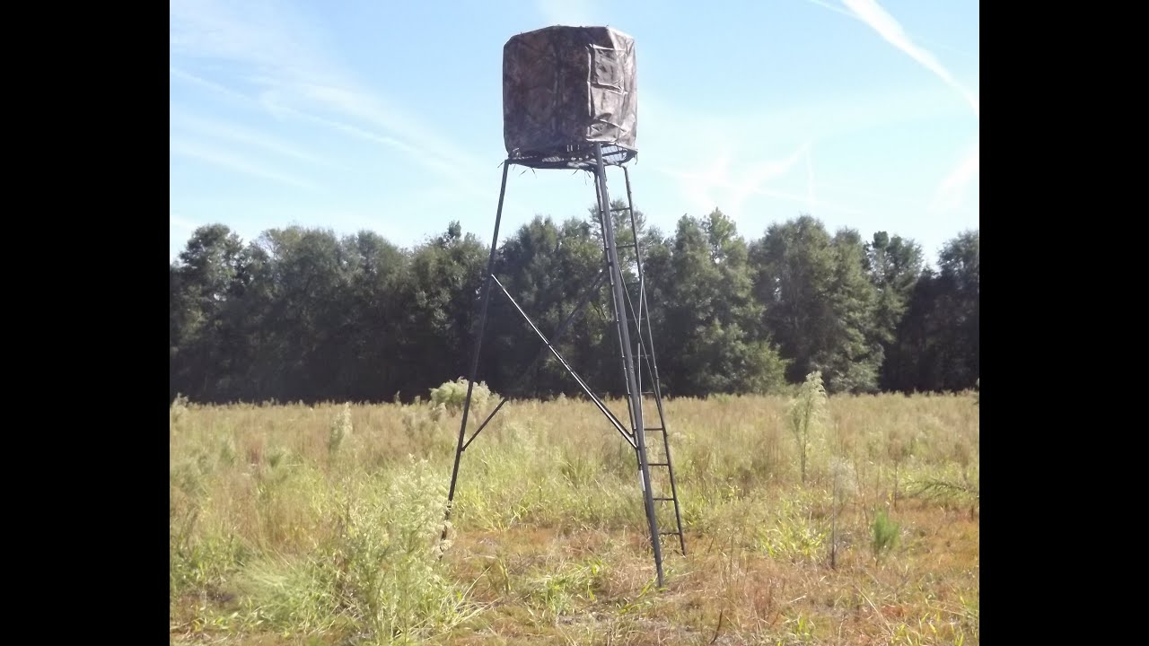 Ameristep 15 Foot Deer Stand Hunting Tripod Youtube