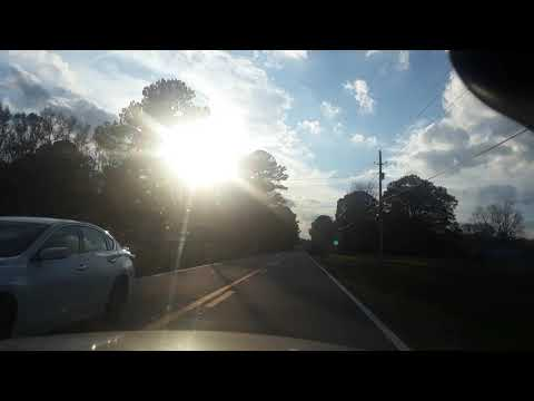 Driving in Greenville N.C 2018 lessings sounds on the radio station.