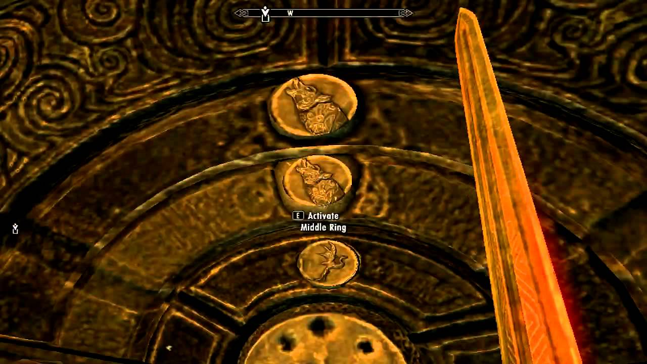 The Elder Scrolls V  Skyrim - Forbidden Legend quest - Gauldur Amulet fragment in Folgunthur - YouTube : folgunthur door - pezcame.com