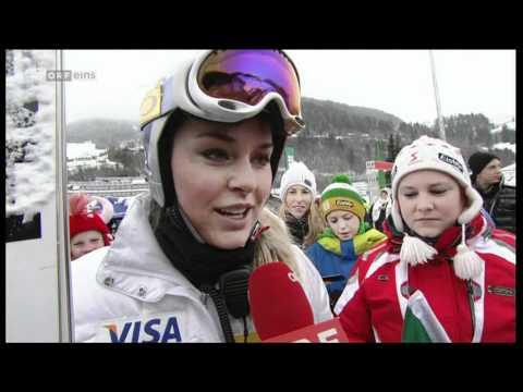 Lindsey Vonn Bad Kleinkirchheim Interview before the SG